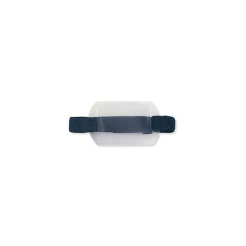 "Arm Band Horizontal Vinyl Badge Holder w/ Blue Strap (3-3/8"" x 2-3/8"") - 25pk (MYBP504AR1B) Image 1"