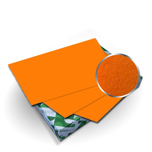"Neenah Paper Astrobrights Cosmic Orange 8.5"" x 11"" Covers With Windows - 50 Sets (MYABC8.5X11COW) Image 1"
