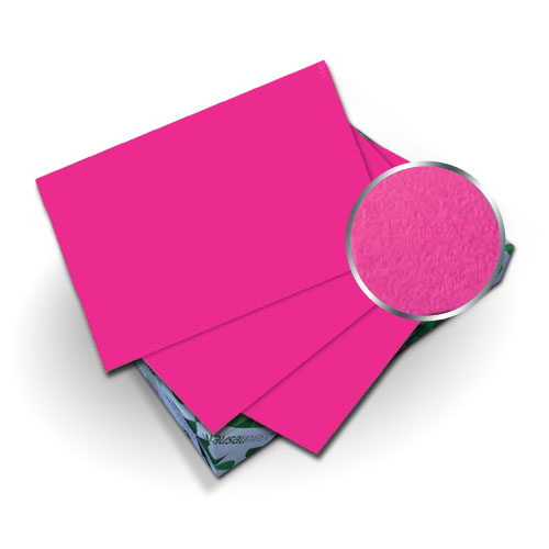 "Neenah Paper Astrobrights Fireball Fuchsia 8.5"" x 11"" Covers With Windows - 50 Sets (MYABC8.5X11FFW) Image 1"