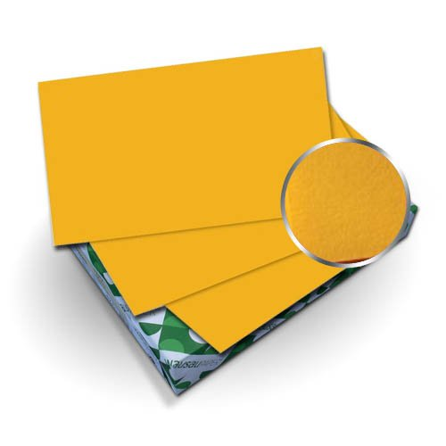 "Neenah Paper Astrobrights Galaxy Gold 8.75"" x 11.25"" Covers With Windows - 50 Sets (MYABC8.75X11.25GGOW) Image 1"