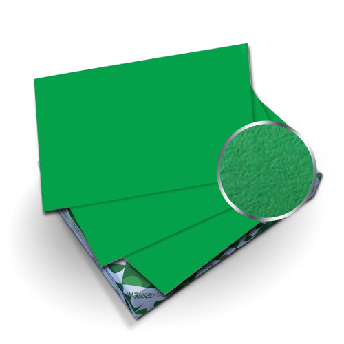 "Neenah Paper Astrobrights Gamma Green 9"" x 11"" 65lb Cover With Windows - 50 Sets (MYABC9X11GGW) Image 1"