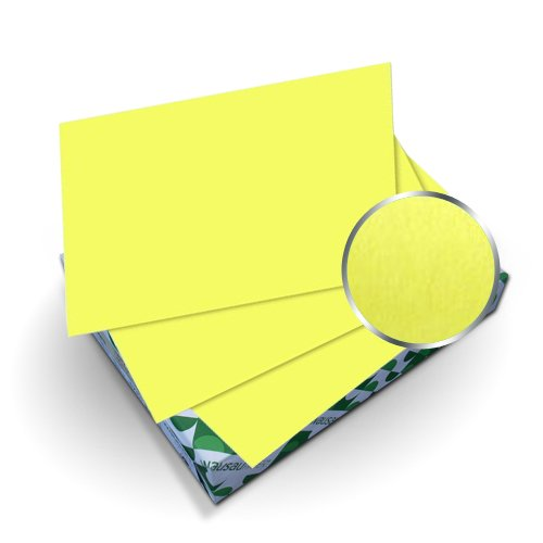 "Neenah Paper Astrobrights Lift-Off Lemon 8.75"" x 11.25"" Covers With Windows - 50 Sets (MYABC8.75X11.25LLW) Image 1"