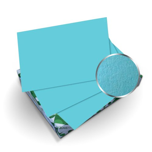"Neenah Paper Astrobrights Lunar Blue 8.75"" x 11.25"" Covers With Windows - 50 Sets (MYABC8.75X11.25LBW) Image 1"