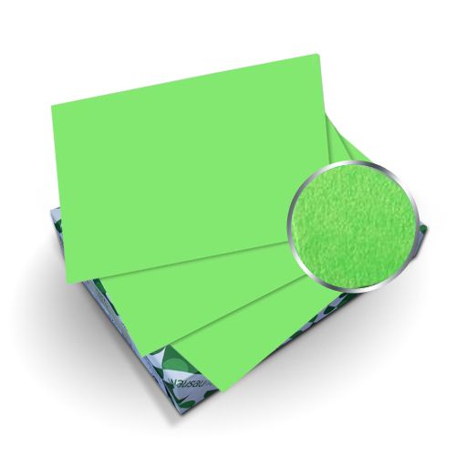 "Neenah Paper Astrobrights Martian Green 9"" x 11"" 65lb Cover With Windows - 50 Sets (MYABC9X11MGW) Image 1"