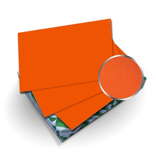 "Neenah Paper Astrobrights Orbit Orange 8.5"" x 11"" Covers With Windows - 50 Sets (MYABC8.5X11OOW) Image 1"