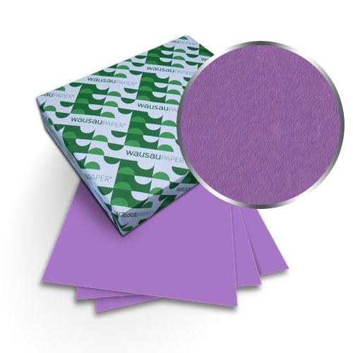 "Neenah Paper Astrobrights Outrage Orchid 8.5"" x 11"" 65lb Covers With Windows - 50 Sets (MYABC8.5X11OROW) Image 1"