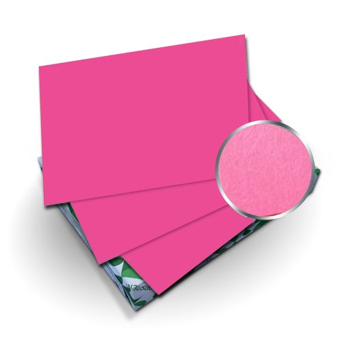 "Neenah Paper Astrobrights Plasma Pink 8.5"" x 11"" Covers With Windows - 50 Sets (MYABC8.5X11PPIW) Image 1"