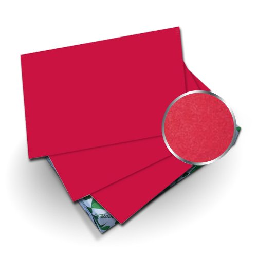 "Neenah Paper Astrobrights Re-Entry Red 9"" x 11"" 65lb Cover With Windows - 50 Sets (MYABC9X11RRW)"