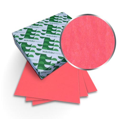 "Neenah Paper Astrobrights Rocket Red 9"" x 11"" 65lb Cover With Windows - 50 Sets (MYABC9X11RORW) Image 1"