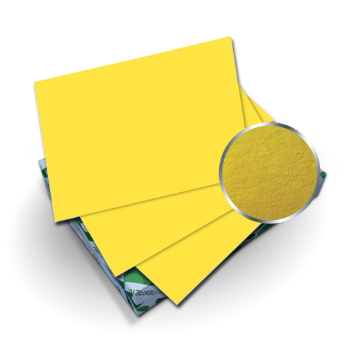 "Neenah Paper Astrobrights Solar Yellow 9"" x 11"" 65lb Cover With Windows - 50 Sets (MYABC9X11SYW), Neenah Paper brand Image 1"