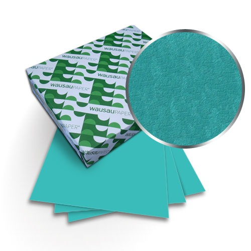 "Neenah Paper Astrobrights Terrestrial Teal 8.5"" x 11"" 65lb Covers With Windows - 50 Sets (MYABC8.5X11TRTW) Image 1"