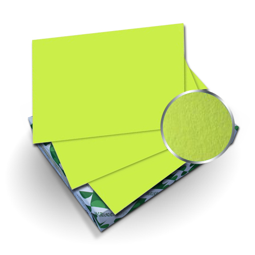 "Neenah Paper Astrobrights Vulcan Green 8.75"" x 11.25"" Covers With Windows - 50 Sets (MYABC8.75X11.25VGW) Image 1"