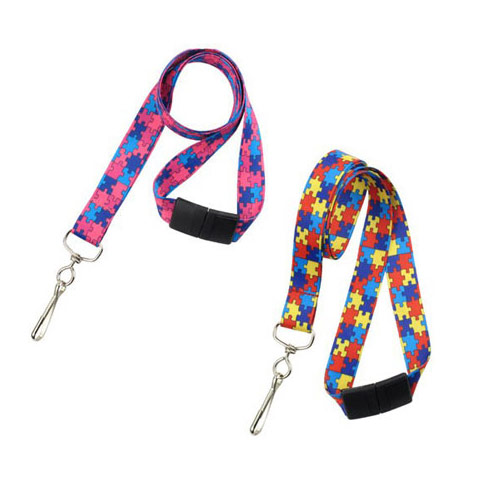 Autism Awareness Lanyard - 100pk (MYAAL), Id Supplies Image 1