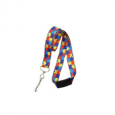Autism Awareness Lanyard - Red/Yellow - 100pk (MYID21385282) Image 1