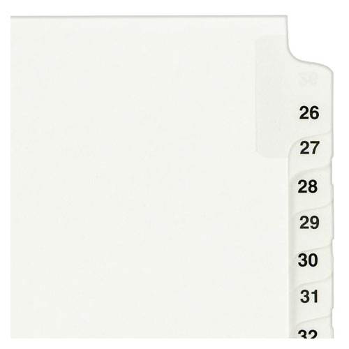 "Avery 26-50 White Legal 11"" x 8.5"" Style Collated Dividers (AVE-01331) Image 1"