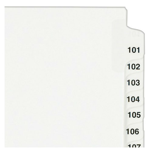 "Avery 101-125 White Legal 11"" x 8.5"" Style Collated Dividers (AVE-01334) Image 1"