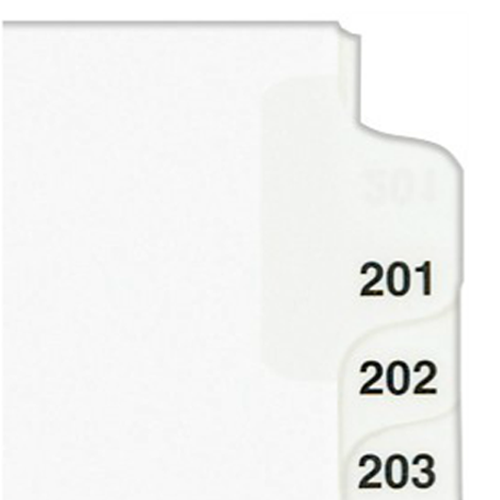 "Avery 201-225 White Legal 11"" x 8.5"" Style Collated Dividers (AVE-01338) - $2.96 Image 1"