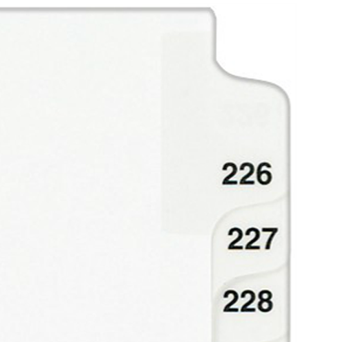 "Avery 226-250 White Legal 11"" x 8.5"" Style Collated Dividers (AVE-01339) - $2.96 Image 1"