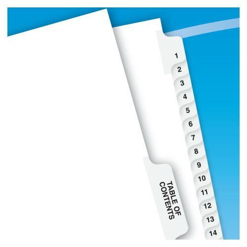 Legal Style Collated Dividers Image 1