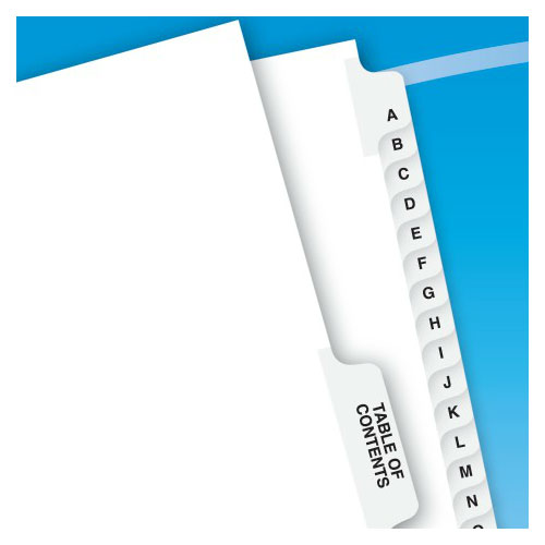 "Avery A-Z/TOC Legal 11"" x 8.5"" Style Collated Dividers (AVE-11374)"