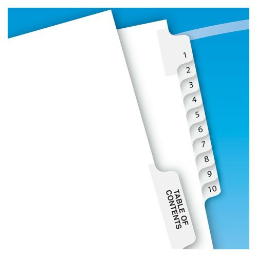 "Avery 1-10/TOC Legal 11"" x 8.5"" Style Collated Dividers (AVE-11381) Image 1"