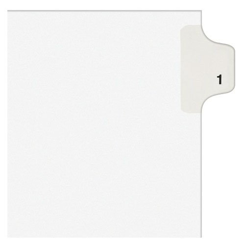 Avery 1 Individual Number Legal Index Style Dividers 25pk (AVE-11911)