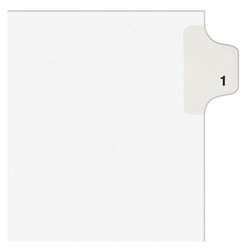 Avery 1 Individual Number Legal Index Style Dividers 25pk (AVE-11911) Image 1