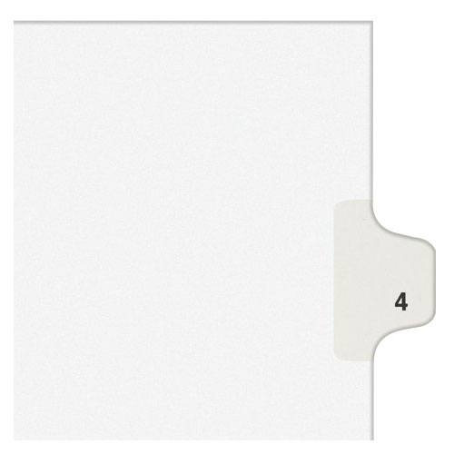 Avery 4 Individual Number Legal Index Style Dividers 25pk (AVE-11914)