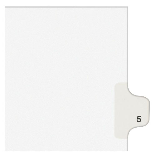 Avery 5 Individual Number Legal Index Style Dividers 25pk (AVE-11915)