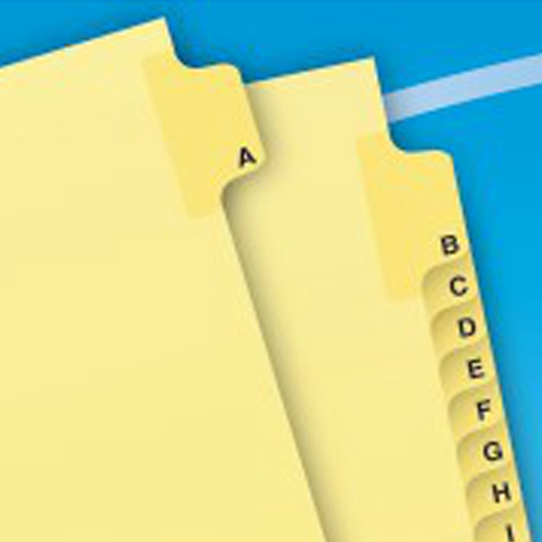 Avery A-Z tab Preprinted Laminated Tab Dividers (AVE-24280) Image 1