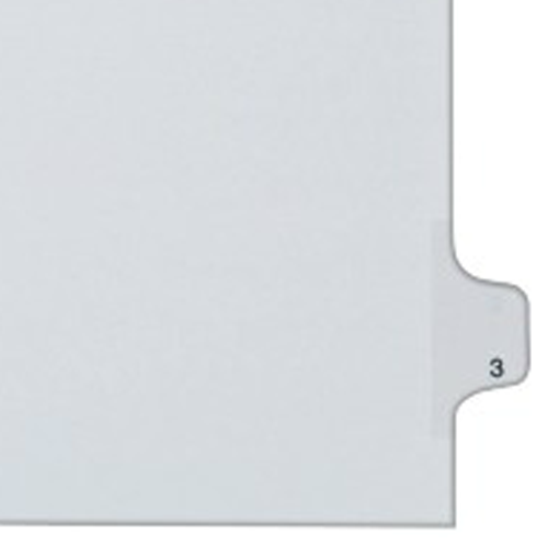 Individual Legal Index Allstate Style Dividers