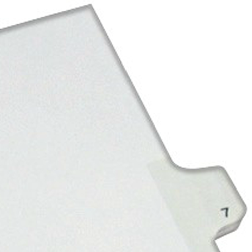 Avery 7 Individual Number Legal Index Allstate Style Dividers (AVE-82205) Image 1