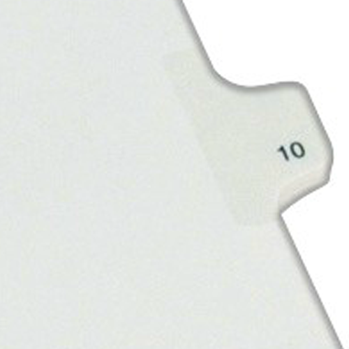 Avery 10 Individual Number Legal Index Allstate Style Dividers 25pk (AVE-82208) Image 1