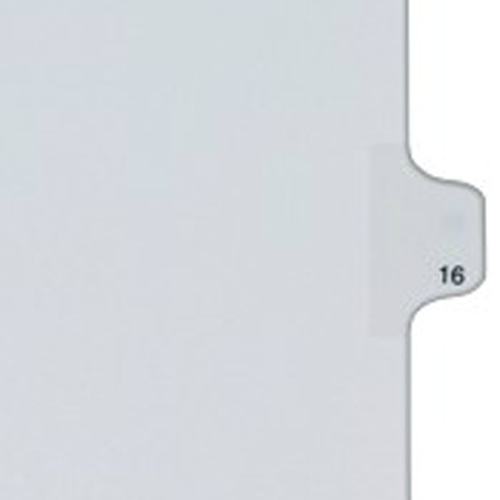 Avery 16 Individual Number Legal Index Allstate Style Dividers 25pk (AVE-82214) - $1.65 Image 1