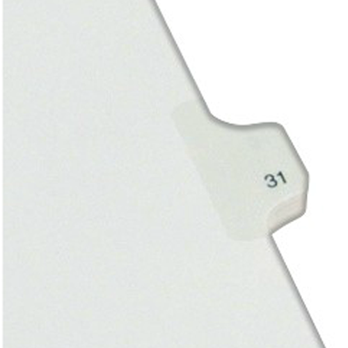 Avery 31 Individual Number Legal Index Allstate Style Dividers 25pk (AVE-82229) Image 1