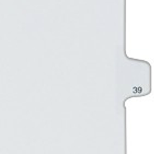 Avery 39 Individual Number Legal Index Allstate Style Dividers 25pk (AVE-82237) Image 1