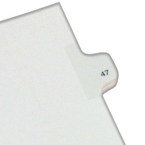 Avery 47 Individual Number Legal Index Allstate Style Dividers 25pk (AVE-82245) - $1.89 Image 1