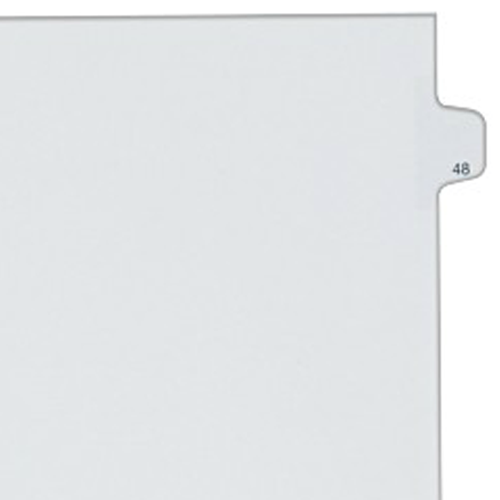 Avery 48 Individual Number Legal Index Allstate Style Dividers 25pk (AVE-82246) - $1.89 Image 1