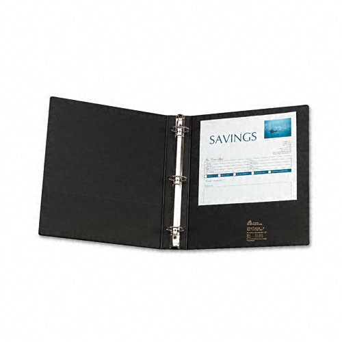 Avery Black Economy Round Ring View Binders (12pk) (AVEERRVBBK), Ring Binders Image 1