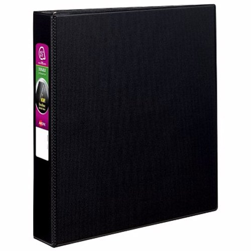 "Avery 1-1/2"" Black Durable EZD Ring Binders 12pk (AVE-07401) Image 1"