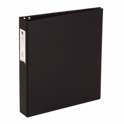 "Avery 1-1/2"" Black Economy Round Ring Binders w/ Label Holders 12pk (AVE-04401) Image 1"