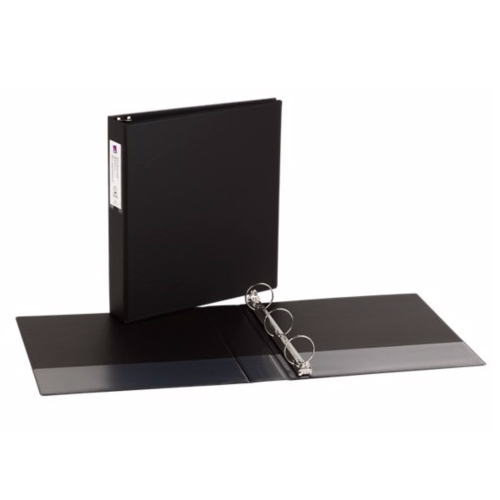 """Avery Black Economy 3 Inch Round Ring Reference Binder: New Avery 1-1/2"""" Black Economy Round Ring Binders W/ Label"""