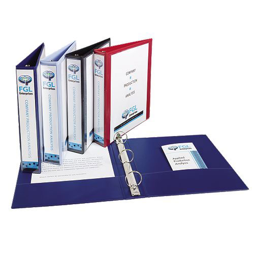 "Avery 1-1/2"" Assorted Show-Off Economy View Binders 12pk (AVE-12058) Image 1"