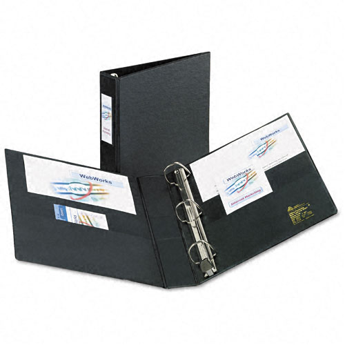 "Avery 1-1/2"" Black One Touch EZD Binder w/ Label Holder 12pk (AVE-79991) Image 1"