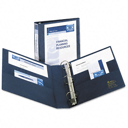 "Avery 1-1/2"" Navy Blue One Touch Heavy Duty EZD View Binders 12pk (AVE-79805) Image 1"