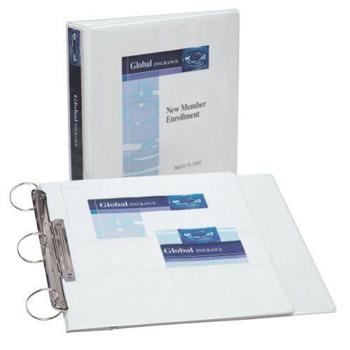 "Avery 1-1/2"" White Heavy Duty Flip Back 360 View Binder 12pk (AVE-17590) Image 1"