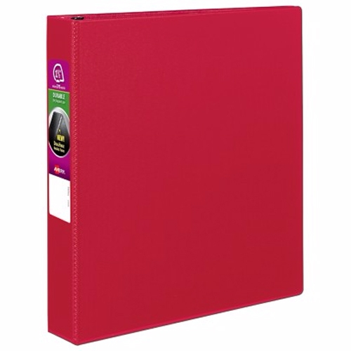 "Avery 1-1/2"" Red Durable Slant Ring Binders 12pk (AVE-27202) Image 1"