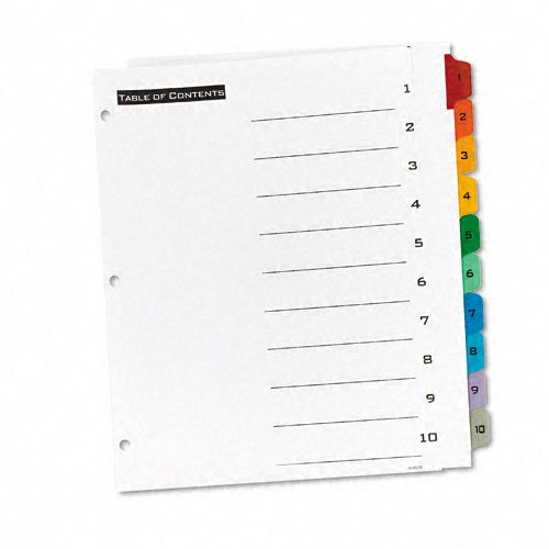 Avery 1-10 tab Office Essentials Table 'N Tabs Dividers (AVE-11671) - $1.59 Image 1