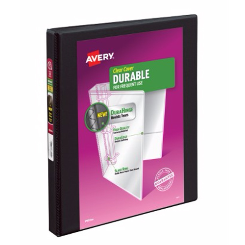 "Avery 1/2"" Black Durable Slant Ring View Binders 12pk (AVE-17001) Image 1"