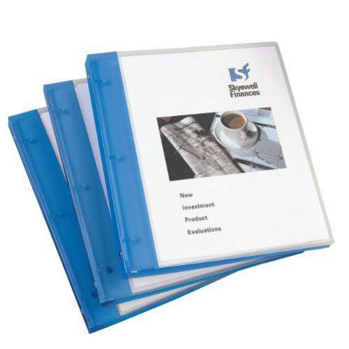 "Avery 1/2"" Blue Flexible Round Ring Binders 12pk (AVE-17670) Image 1"